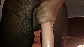 My Sexy Girlfriend, Dirty British Milf - I Filmed the Whore in Slow Motion on My i-phone from Behind, Ramming a Huge Dildo Hard in Her Arse Hole - II