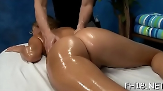 Cute and sexy drilled hard by her masseur