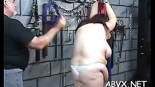 Amateur babe with nice forms wicked bondage porn play