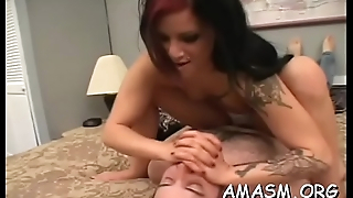 Fine booty woman nice smothering pussy licking xxx scenes
