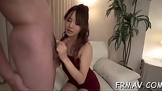 Lovely japanese hotty achieves hot agonorgasmos from wild sex