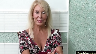 Stepmom and son in nuru family sex massage