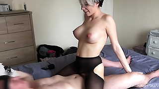 Sexy babe Samantha Flair - Lesbian takes first real cock.
