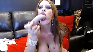 I'_m sexy MILF Jade with big tits fists her pussy and gets cum