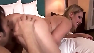 HIS TALL, BLONDE, BIG TITTED BOSS, CHRISTINA, WANTS TO SUCK COCK &amp_ GET FUCKED