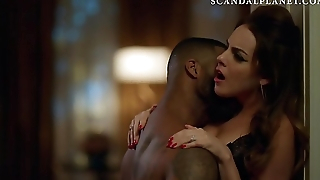 Elizabeth Gillies Cleavage in Scene from '_Dynasty'_ On ScandalPlanet.Com